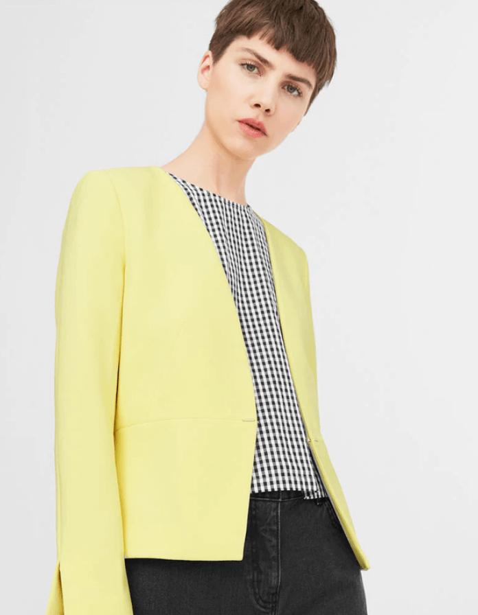 H & M Yellow Slider